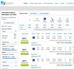 Indianapolis-Washington, D.C.: Fly.com Search Results