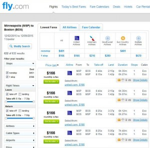 Minneapolis-Boston: Fly.com Search Results