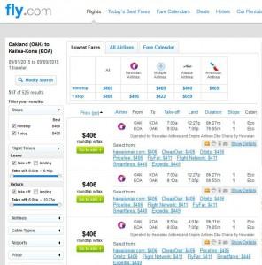Oakland-Kona: Fly.com Search Results