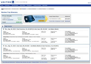 San Francisco to San Juan, Puerto Rico: United Booking Page