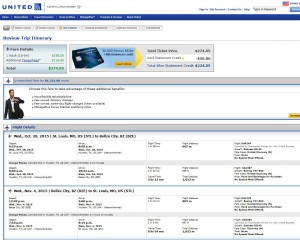 St. Louis-Belize City: United Booking Page