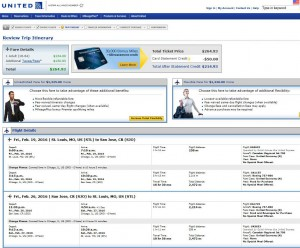 St. Louis-San Jose, Costa Rica: United Booking Page