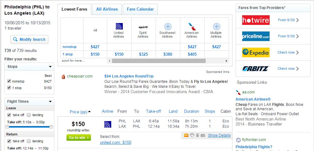 150 Philadelphia To Los Angeles R T Fly Com Travel