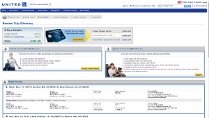 Boston to New Orleans: United Airlines Page