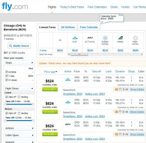 Chicago-Barcelona: Fly Search Results