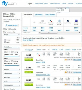Chicago-Cancun: Fly Search Results