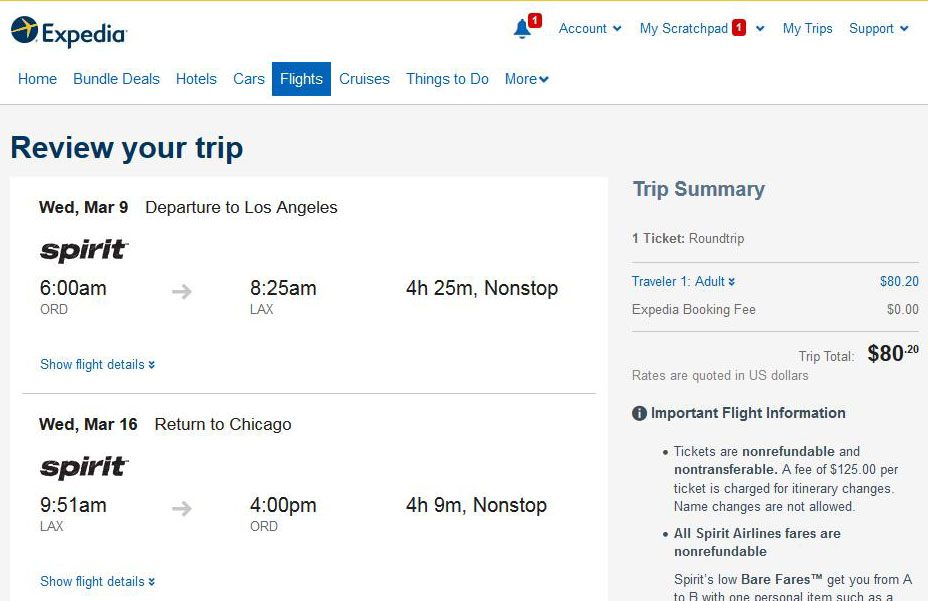 Best flight deals from chicago to los angeles