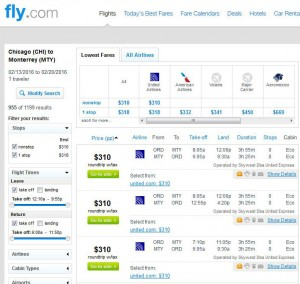 Chicago-Monterrey: Fly Search Results