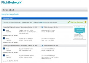 San Francisco to Oslo: Flight Network Booking Page