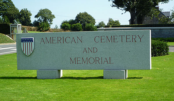 American War Grave Cemetery near Avranches in France (Godfrey Hall)