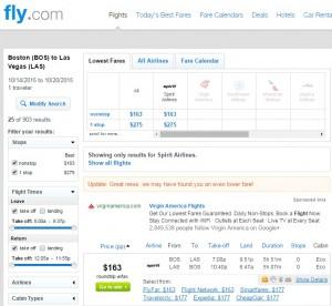 Boston to Las Vegas: Fly.com Results