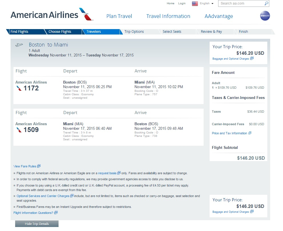 Travel deals from boston to miami