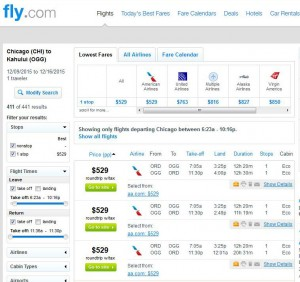 Chicago-Kahului, Maui: Fly.com Search Results