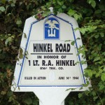 Local Road Sign Commemorating Lt. R.A. Hinkel (G. Hall)