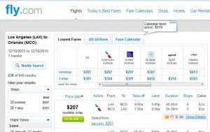 Los Angeles-Orlando: Fly.com Search Results