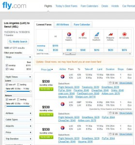 Los Angeles-Seoul: Fly.com Search Results