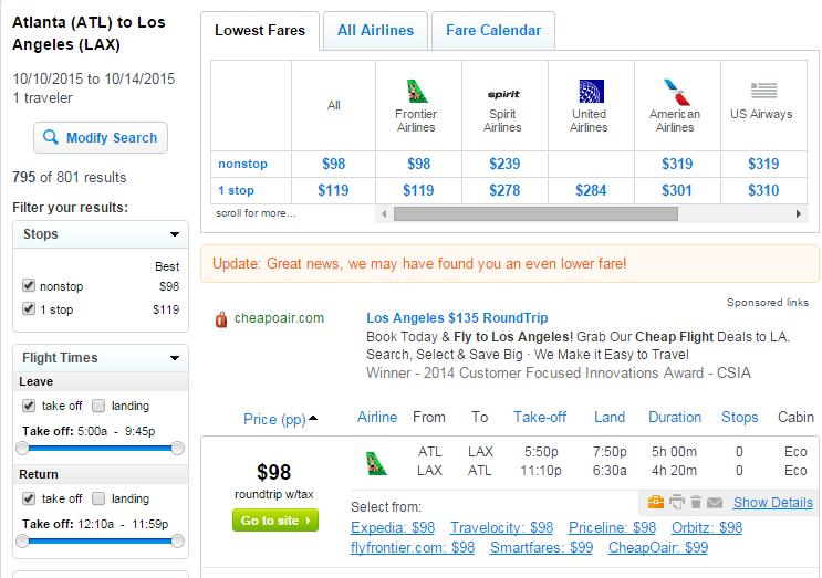 Atlanta Hartsfield-Jackson to Los Angeles Flight Information