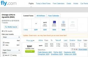Chicago-Aguadilla: Fly.com Search Results