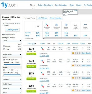 Chicago-San Juan: Fly.com Search Results