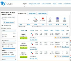 Minneapolis-Shanghai: Fly.com Search Results