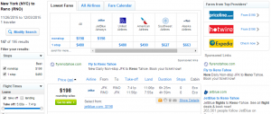 NYC to Reno/Tahoe: Fly.com Results Page