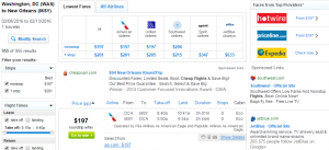 D.C. to New Orleans: Fly.com Results Page