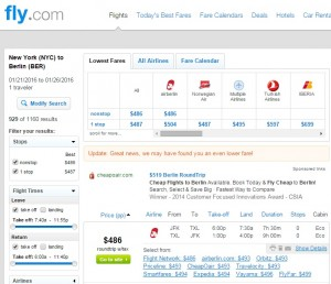 NYC to Berlin: Fly.com Results