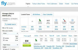 Chicago-Atlanta: Fly.com Search Results