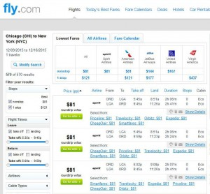 Chicago-New York City: Fly.com Search Results