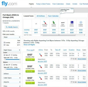 Fort Myers-Chicago: Fly.com Search Results