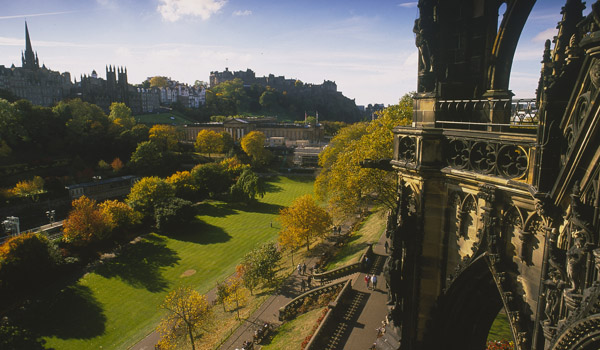 Princes Street Gardens from the Scott Monument