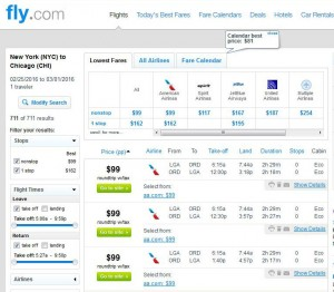 New York City-Chicago: Fly.com Search Results
