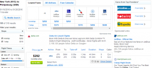 NYC to St Maarten: Fly.com Results Page