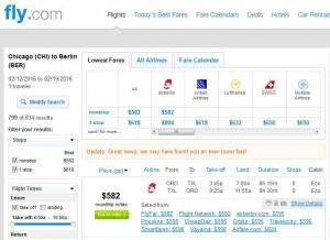 Chicago-Berlin: Fly.com Search Results