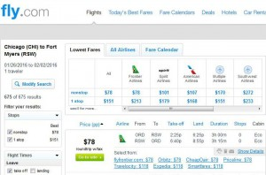 Chicago-Fort Myers: Fly.com Search Results