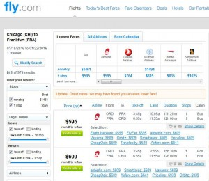 Chicago-Frankfurt: Fly.com Search Results