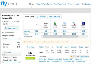 Houston-Las Vegas: Fly.com Search Results