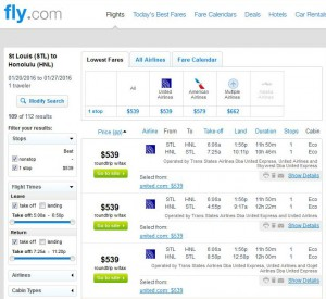 St. Louis-Honolulu: Fly.com Search Results