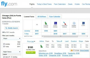 Chicago-Punta Cana: Fly.com Search Results