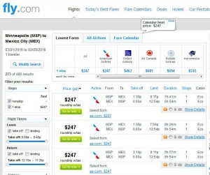 Minneapolis-Mexico City: Fly.com Search Results