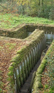 Recreated trenches at the Memorial Museum Passchendaele (Godfrey Hall)