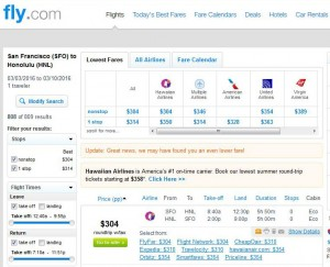 San Francisco-Honolulu: Fly.com Search Results