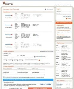 San Francisco-Paris: Vayama Booking Page