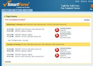 San Francisco to Tel Aviv: SmartFares