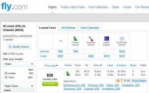 St. Louis-Orlando: Fly.com Search Results