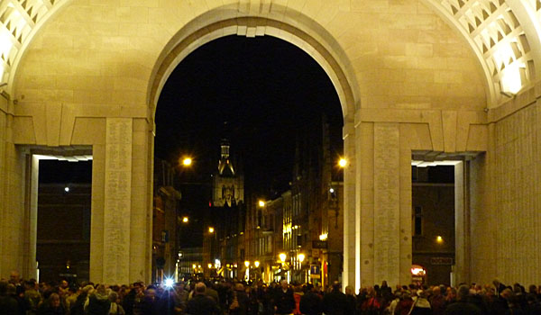 The Last Post at the Menin Gate, Ieper (Godfrey Hall)