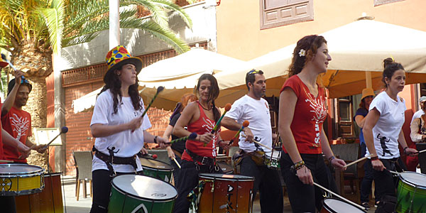 Carnival Band in Santa Cruz De Tenerife (Godfrey Hall)