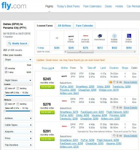 Dallas-Panama City: Fly.com Search Results