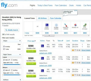 Houston-Hong Kong: Fly.com Search Results