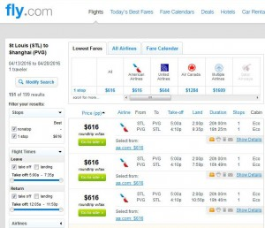 St. Louis-Shanghai: Fly.com Search Results